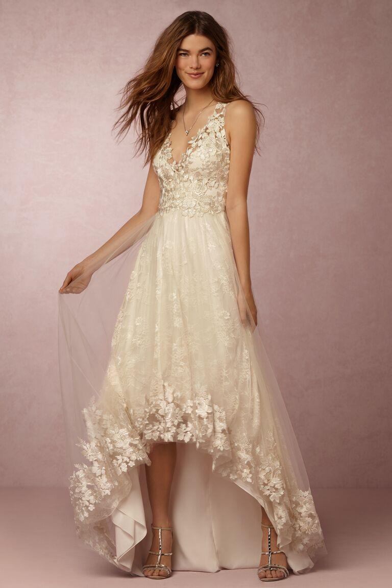 Marchesa Notte x BHLDN embroidered wedding dress