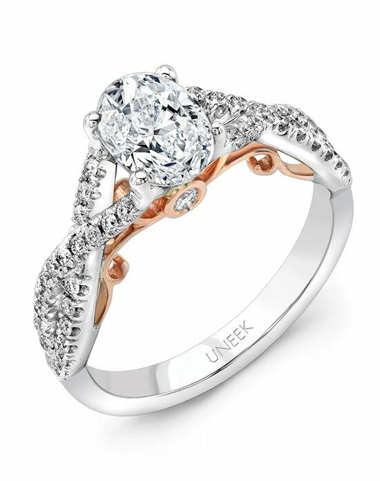 Uneek Fine Jewelry A102WR-7.5X5.5OV Engagement Ring photo