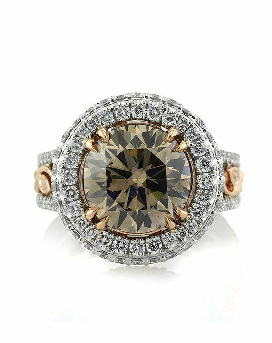 Mark Broumand 5.87ct Fancy Brown Round Brilliant Cut Diamond Engagement Ring Engagement Ring photo