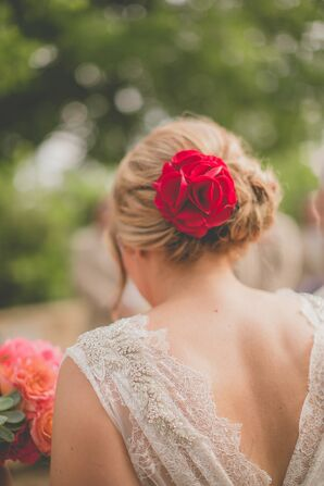 Red Bridal Hair Accessory