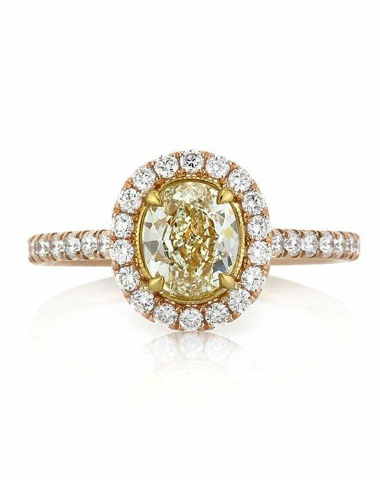 Mark Broumand 1.70ct Fancy Light Yellow Oval Cut Diamond Engagement Ring Engagement Ring photo