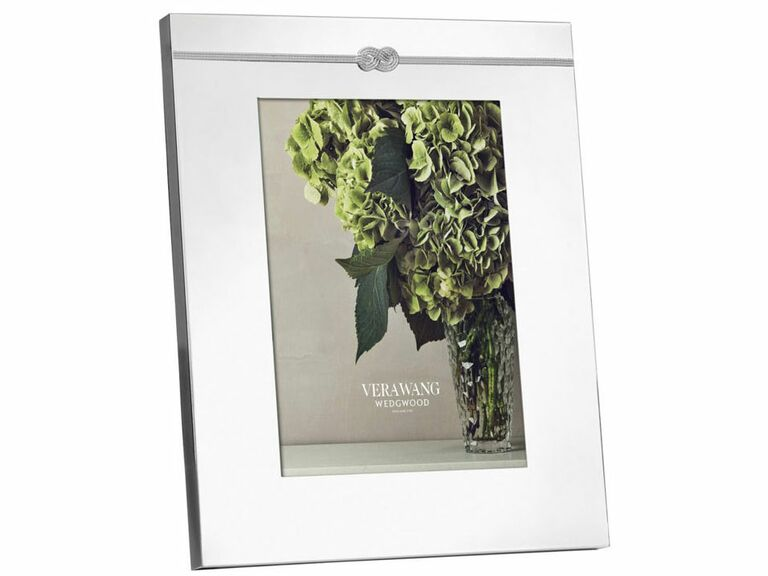 Silver wedding picture frame with infinity sign