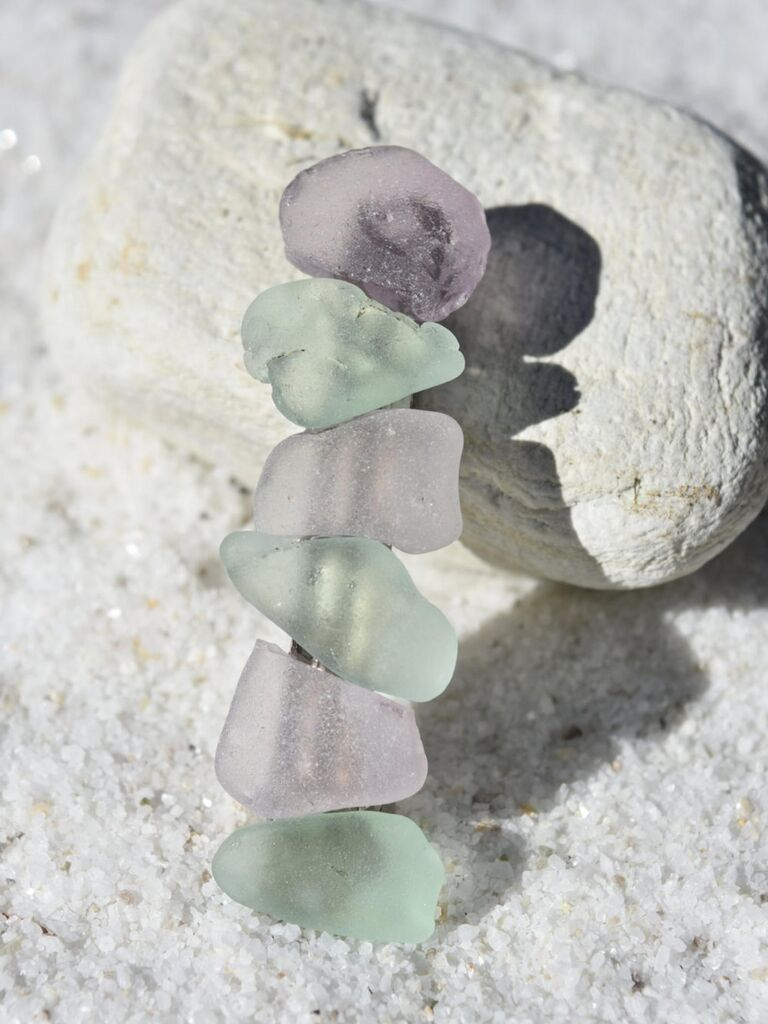 Surf tumbled sea glass barrette