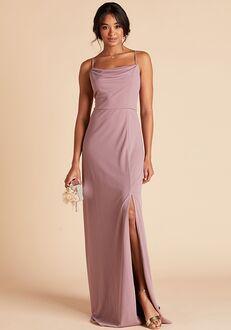 Birdy Grey Ash Crepe Dress in Dark Mauve Scoop Bridesmaid Dress