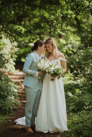 Same-Sex Brides at Wedding in Hartford, Connecticut