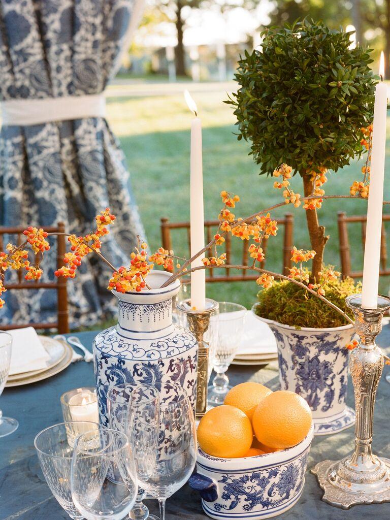 Wedding Centerpieces Ginger Jars