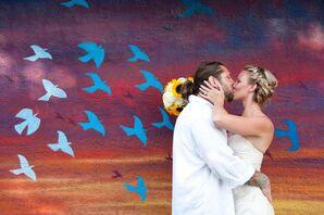 Folly Beach Boardwalk Wedding Photo Shoot