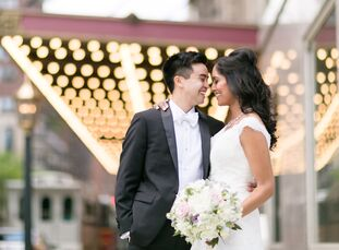 Elegant gold details and crystal-draped centerpieces lent a regal feel to Nikita Vashi (28 and a physician) and Chris Baclig's (29 and a software deve