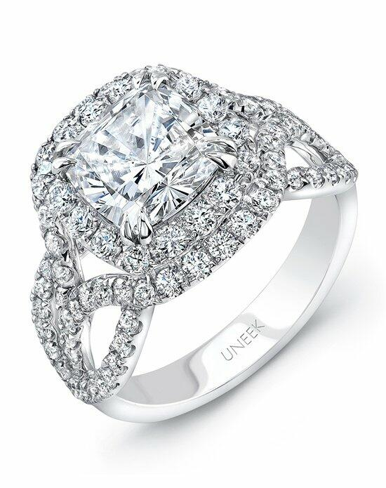 Uneek Fine Jewelry SM823W-7.5X7.5CU Engagement Ring photo