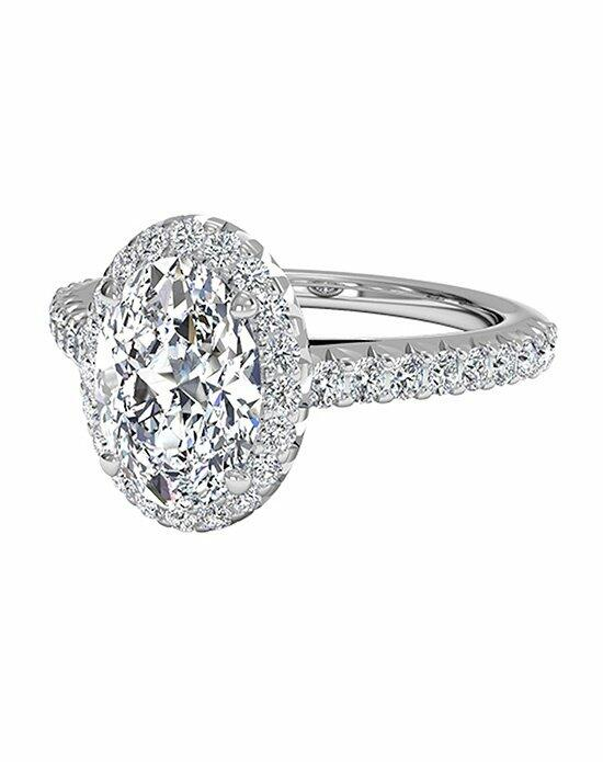 Ritani Oval Cut French-Set Halo Diamond Band Engagement Ring in 18kt White Gold (0.39 CTW) Engagement Ring photo