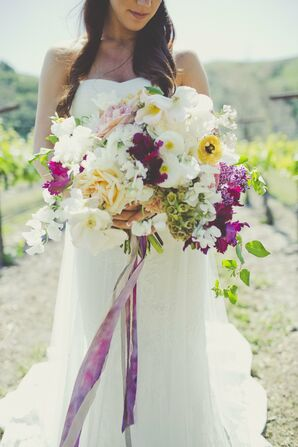 Lush, Eclectic Bridal Bouquet