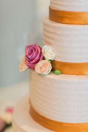 Round Buttercream Cake With Rose Detail