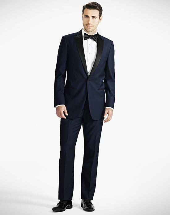 Generation Tux Peak Lapel Modern Fit Midnight Blue Tux Wedding Tuxedos + Suit photo