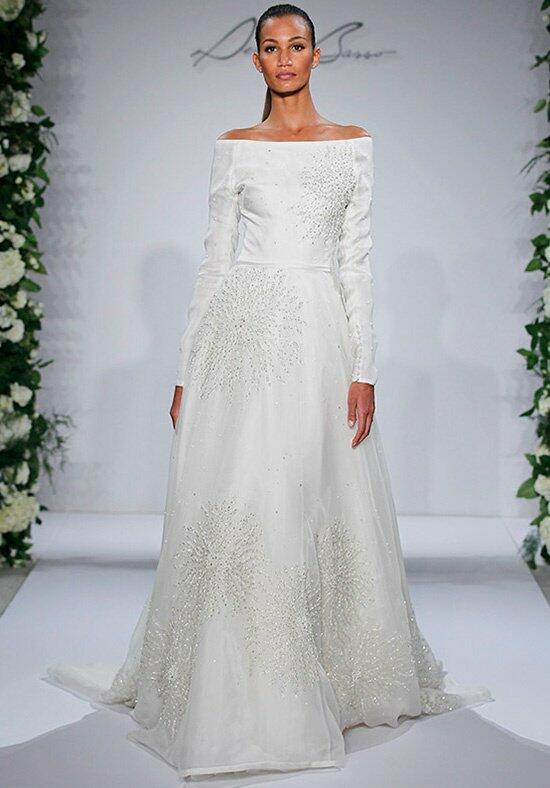 Dennis basso for kleinfeld swan wedding dress the knot for Kleinfeld wedding dresses with sleeves