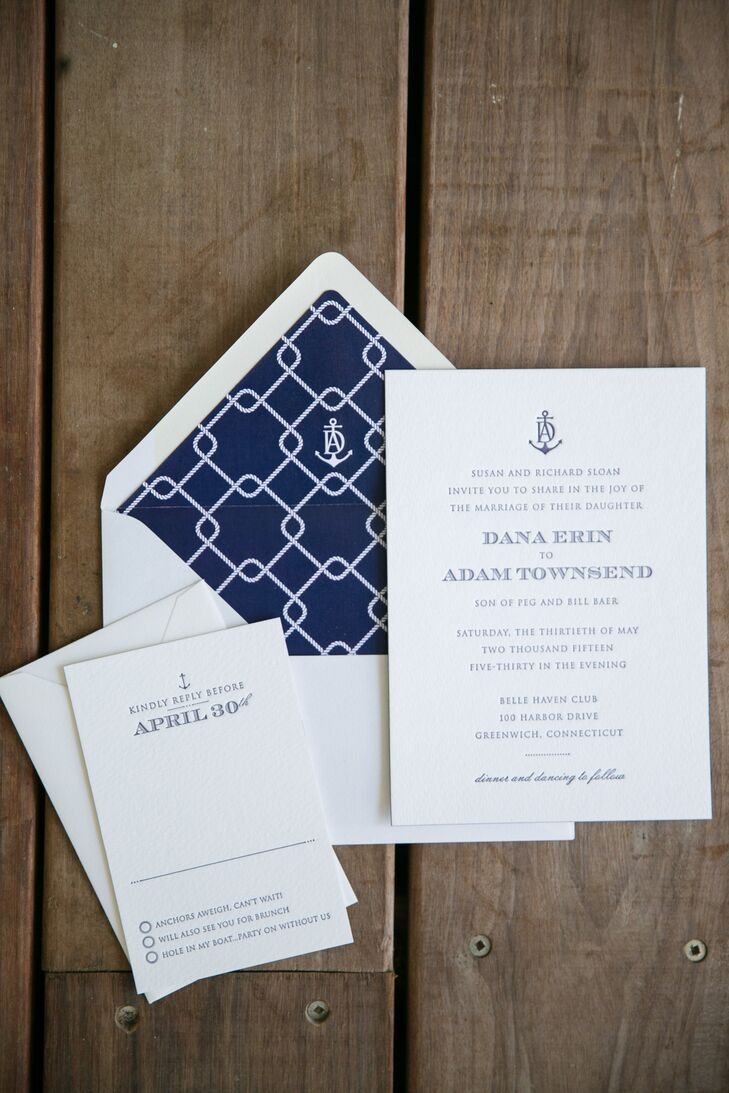 Modern Nautical Wedding Invitations