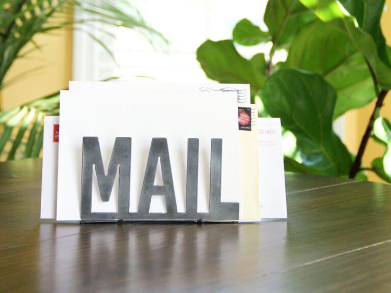 Metal mail holder 7 year anniversary gift idea