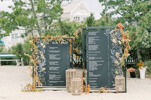 Black-and-Gold Wedding Reception Seating Chart