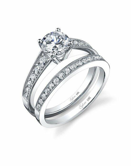 Sylvie Collection SY708 RB Engagement Ring photo