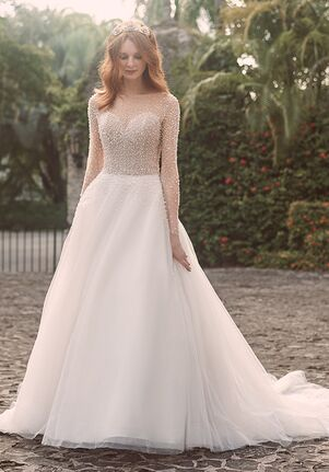 Maggie Sottero ROSETTE A-Line Wedding Dress