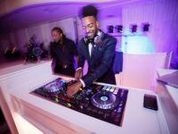 DJ performing at wedding reception