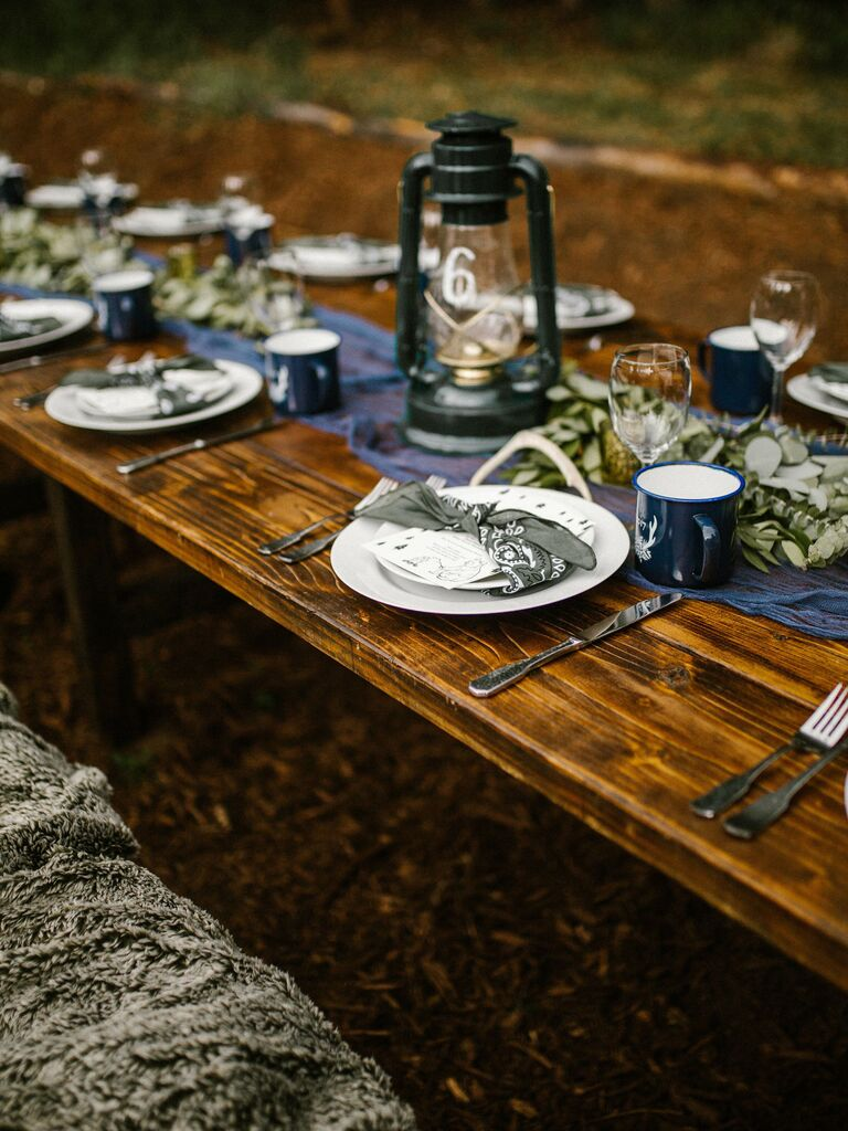 Wedding Centerpieces Lantern and Greens