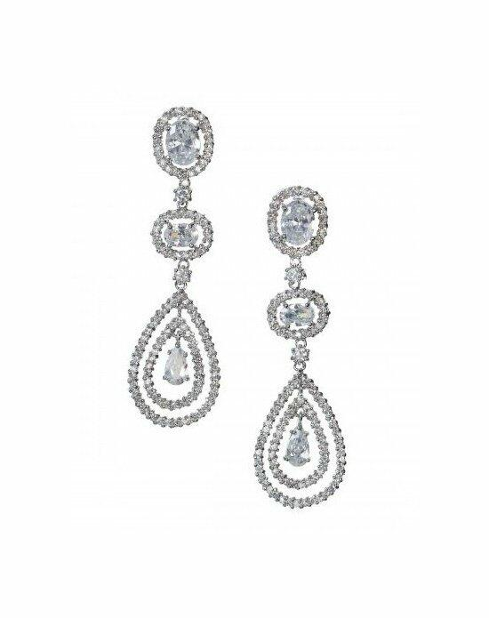 Anna Bellagio LENNOX DRAMATIC CUBIC ZIRCONIA STATEMENT EARRING Wedding Earrings photo