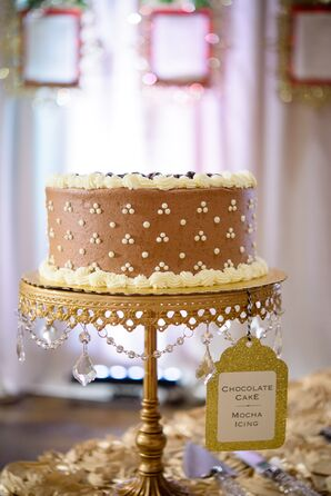 Gold and Crystal Cake Stand