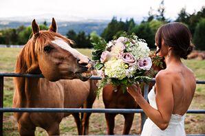 Bridal Portraits on a Farm