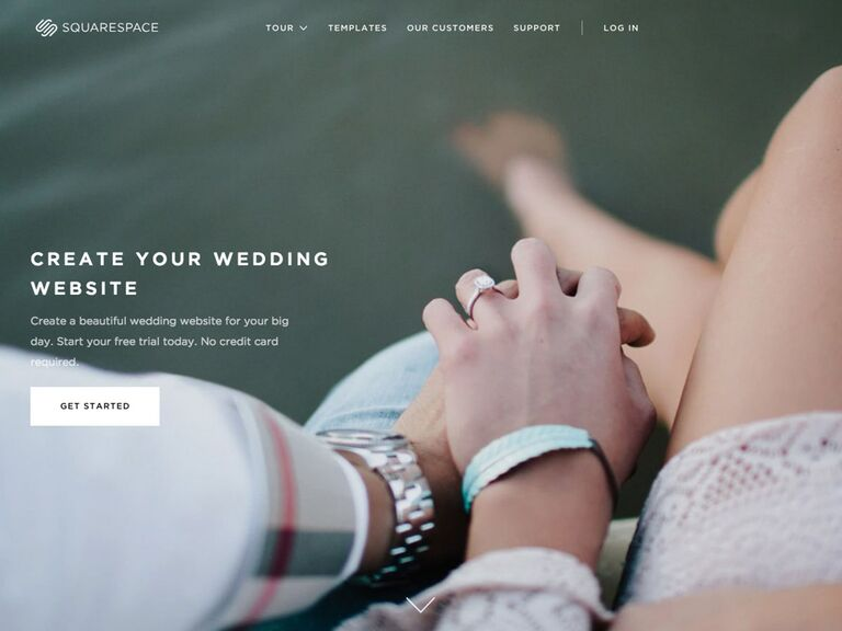 Square Space Wedding Website templates