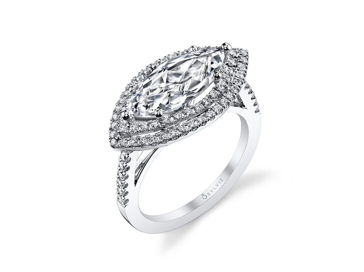sylvie collection marquise engagement ring