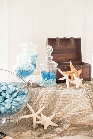 Nautical Candy Bar with Starfish and Netting