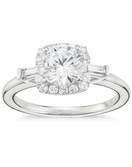 Monique Lhuillier Fine Jewelry Baguette Halo Diamond Engagement Ring Engagement Ring photo