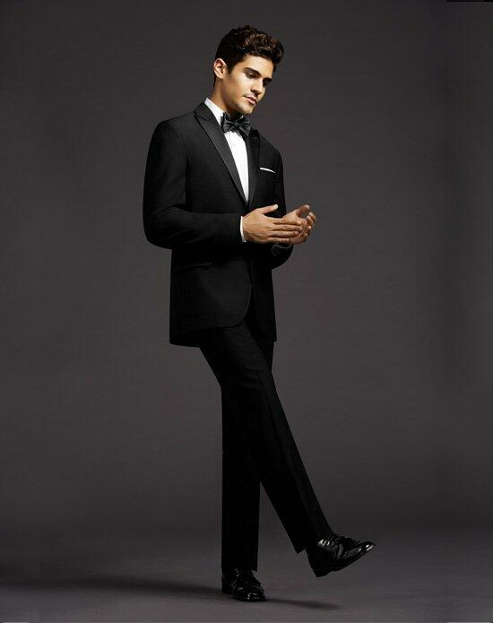 The Men's Wearhouse® Calvin Klein Peak Lapel Tuxedo Wedding Tuxedos + Suit photo