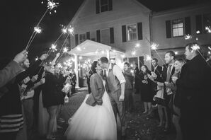 Classic Sparkler Exit in Easton, Maryland