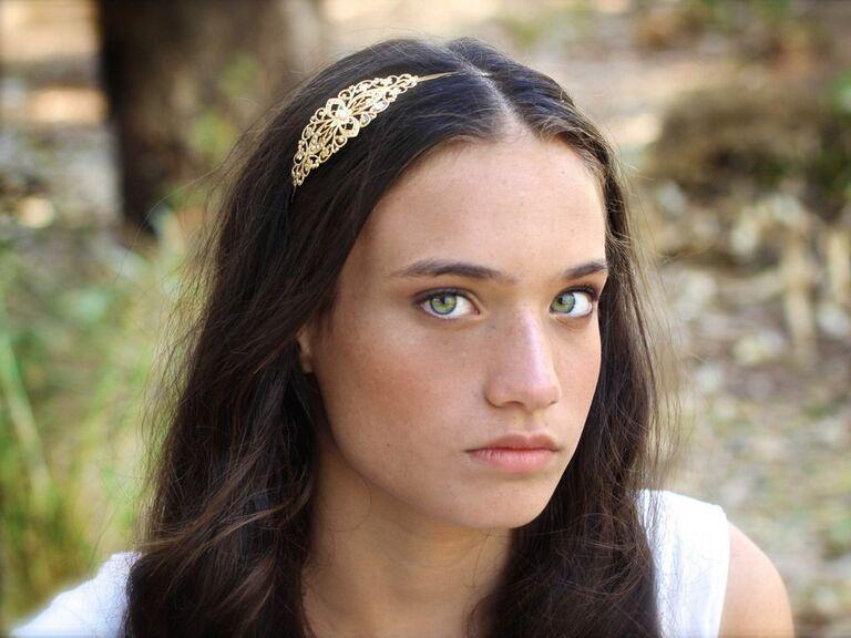 Luxury gold headband
