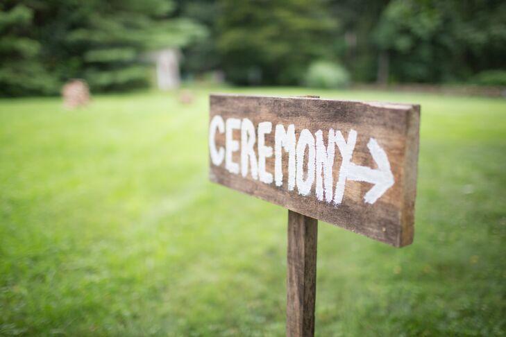 Rustic Wood Wedding Ceremony Sign