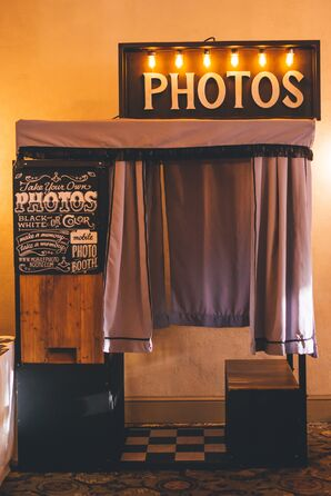 Classic Photo Booth at Reception