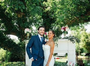 Jamila Palmer (28 and a vascular ultrasound technician) and Dennis Friedberg (29 and a mechanical engineer) planned a whimsical secret-garden soiree f