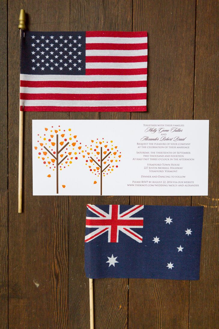 Fall Foliage-Inspired Invitations