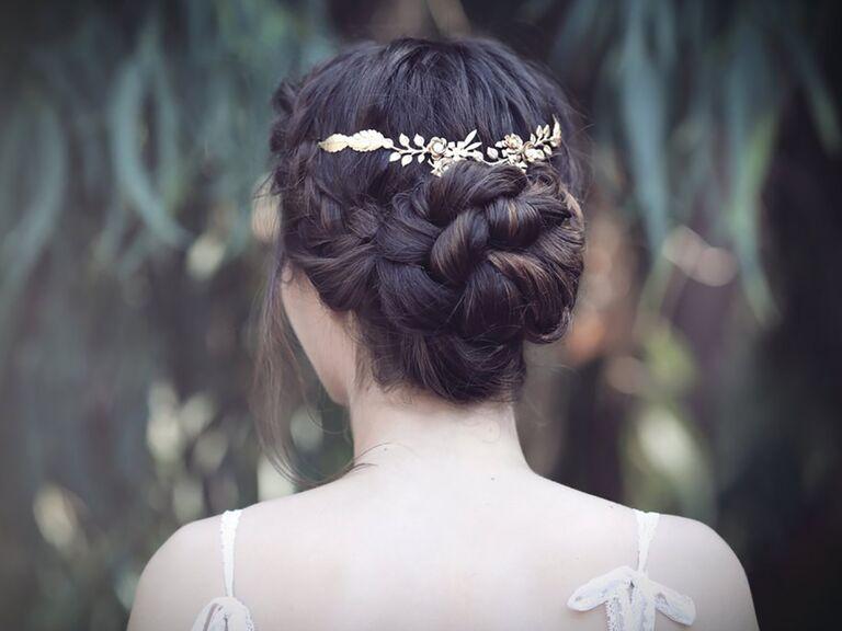 Bohemian bridal flower crown