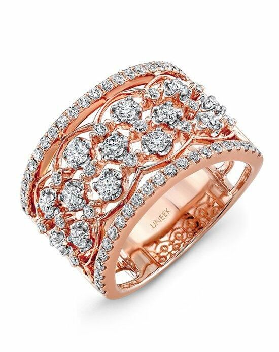 Uneek Fine Jewelry The Rose Garland Open Lace Three-Row Diamond Band/LVBW405R Wedding Ring photo