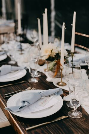 Rustic Place Setting with Taper Candles