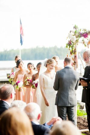 Outdoor Migis Lodge Wedding Ceremony
