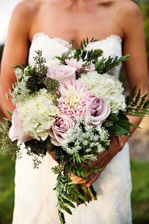 Romantic Blush and Ivory Bridal Bouquet