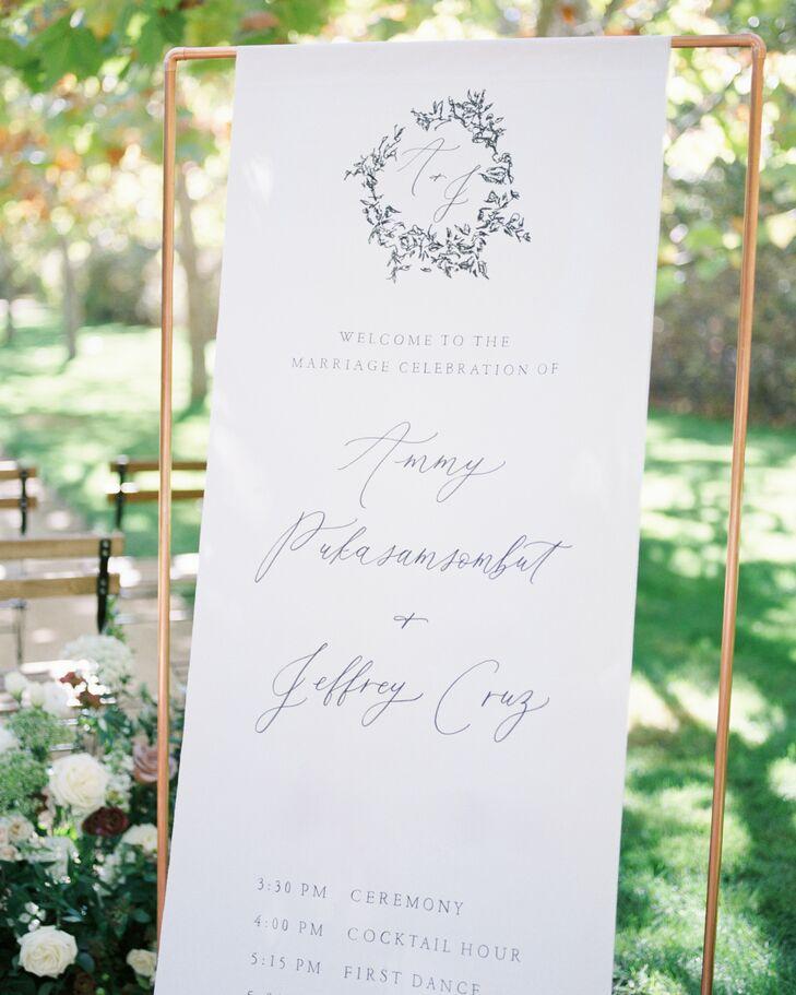 Romantic and Whimsical Wedding Signage