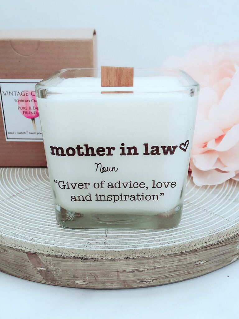 Thoughtful mother-in-law candle gift