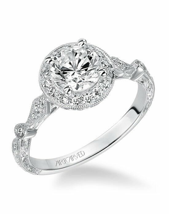 ArtCarved 31-V518ERW Engagement Ring photo