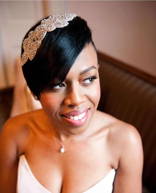 Wedding Hairstyles for Brides With Short Hair  <img class=