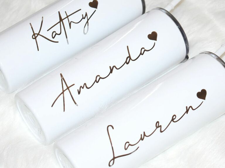personalized tumbler wedding party gift