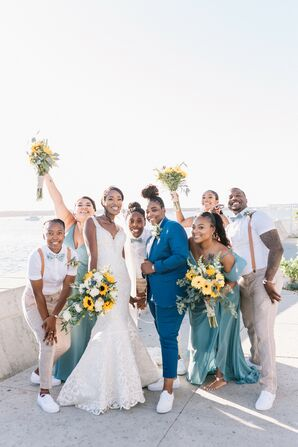Wedding Party at The Portofino Hotel in Redondo Beach, California